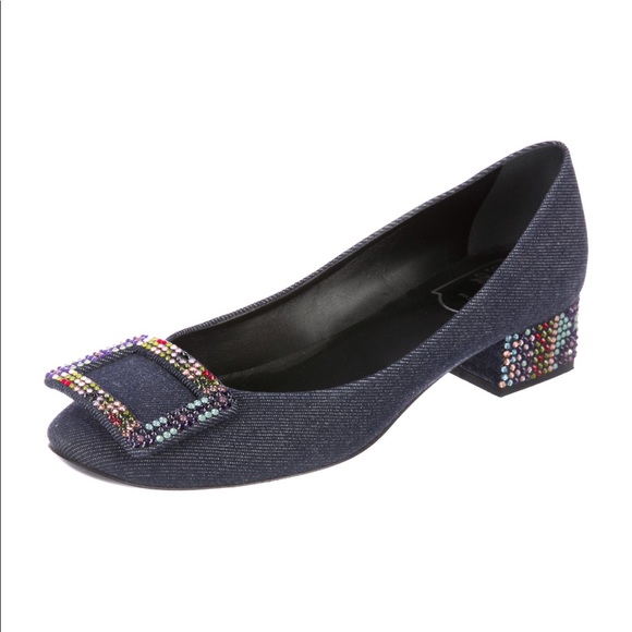 4f299f69940b Roger Vivier Shoes | Embellished Belle De Nuit Denim Pumps | Poshmark